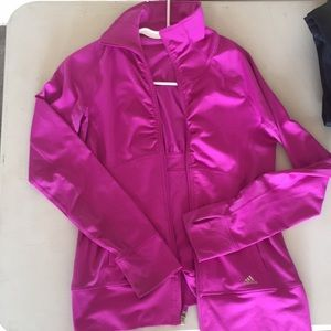 Pink adidas zip up - size S